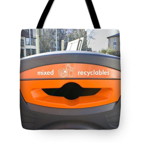 Recycling Bin Tote Bag