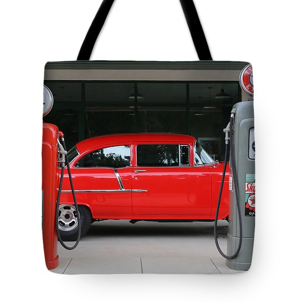 Red 55 Tote Bag by Lynn Sprowl