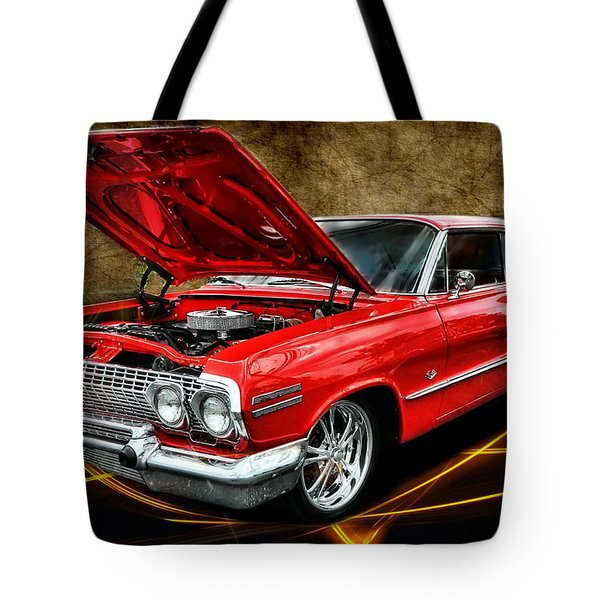 Red '63 Impala Tote Bag