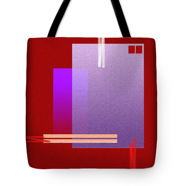 Red Abstract 2 Tote Bag by Anil Nene