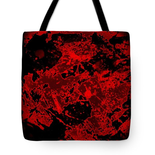 Red Abstract Tote Bag