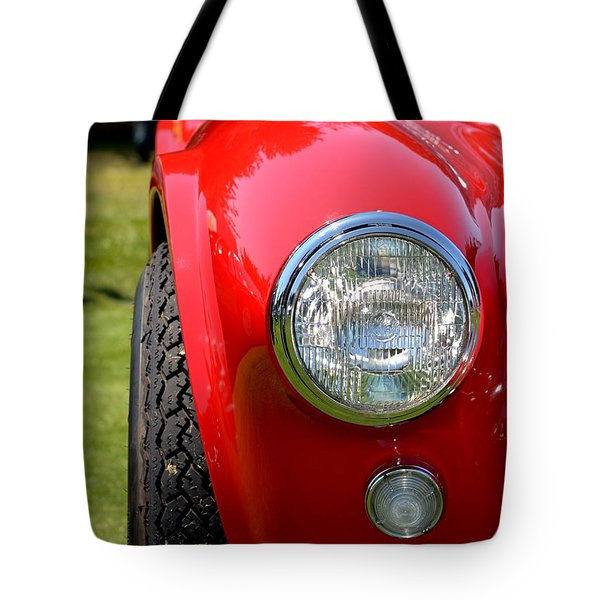 Tote Bag featuring the photograph Red Ac Cobra by Dean Ferreira