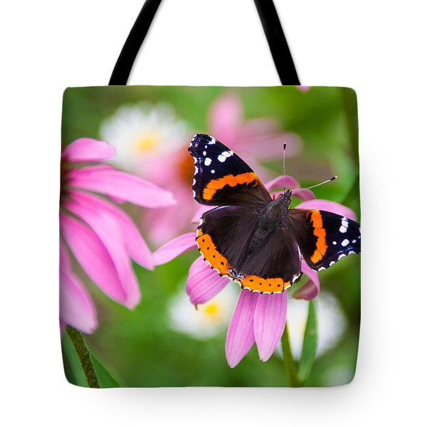 Tote Bag featuring the photograph Red Admiral Butterfly by Patti Deters
