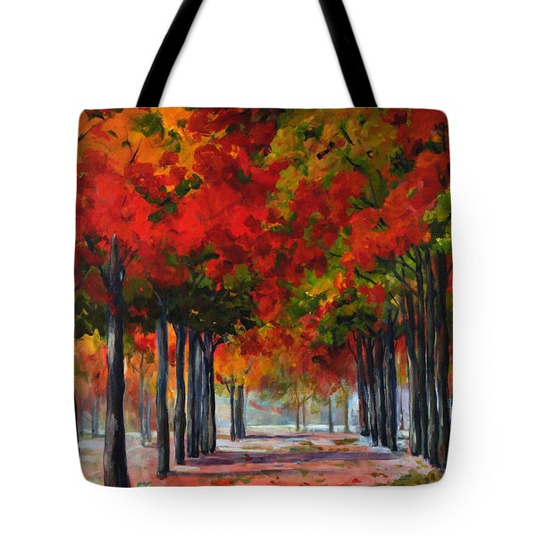 Red Alley II Tote Bag