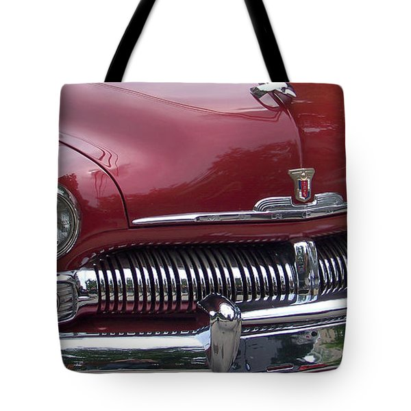 Red And Chrome Tote Bag by Julie Grace