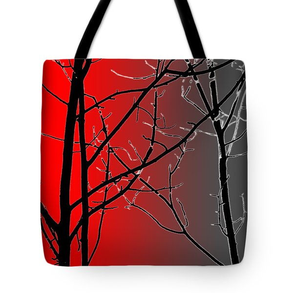 Red And Gray Tote Bag by Cynthia Guinn