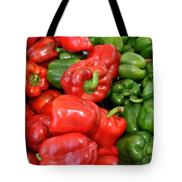 Red And Green  Peppers Union Square Farmers Market Tote Bag