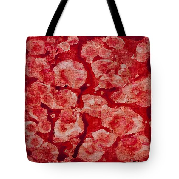 Red And White Tote Bag by Darice Machel McGuire