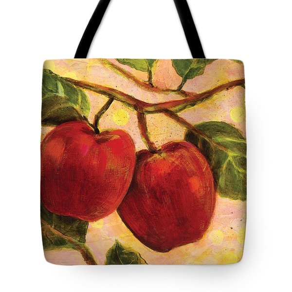 Red Apples On A Branch Tote Bag by Jen Norton
