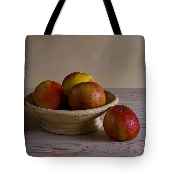 Red Apples Tote Bag by Trevor Chriss