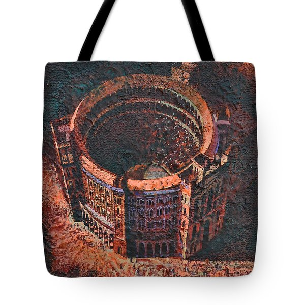 Red Arena Tote Bag by Mark Jones