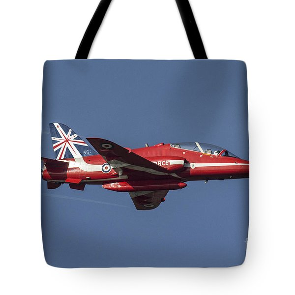 Red Arrows 50 Display Seasons Tote Bag by J Biggadike