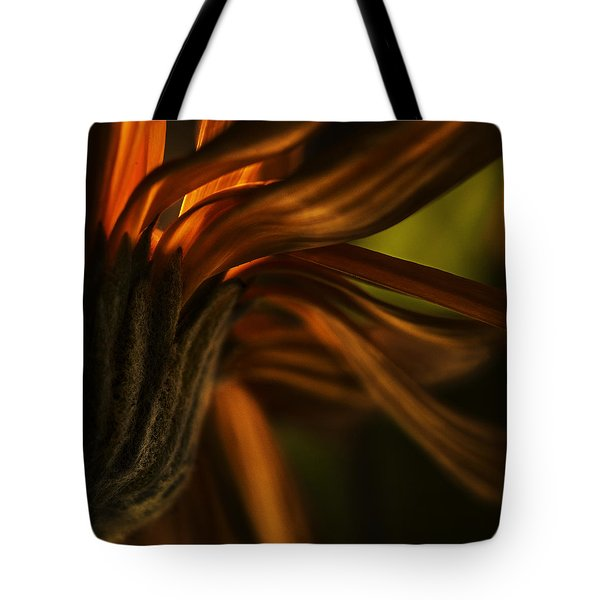 Tote Bag featuring the photograph Red Autumn Blossom Detail by Peter v Quenter