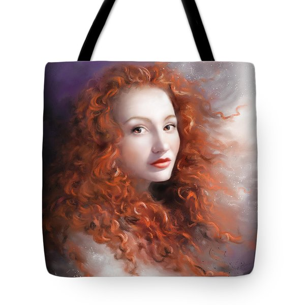 Tote Bag featuring the painting Red Autumn by S G