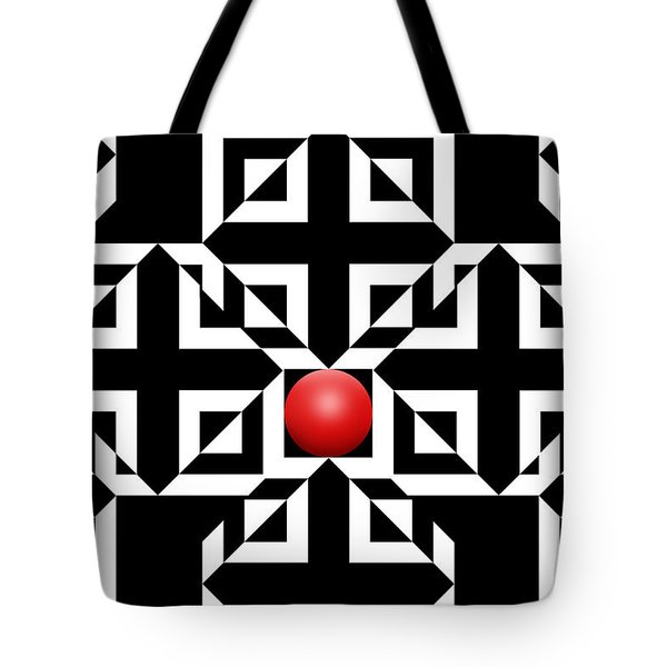 Red Ball 5 Tote Bag by Mike McGlothlen
