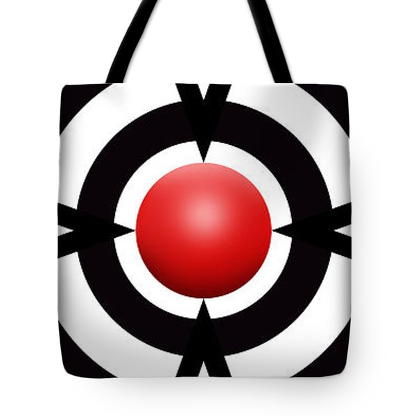 Red Ball 6 Panoramic Tote Bag by Mike McGlothlen
