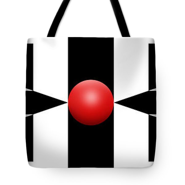 Red Ball 2a Panoramic Tote Bag by Mike McGlothlen