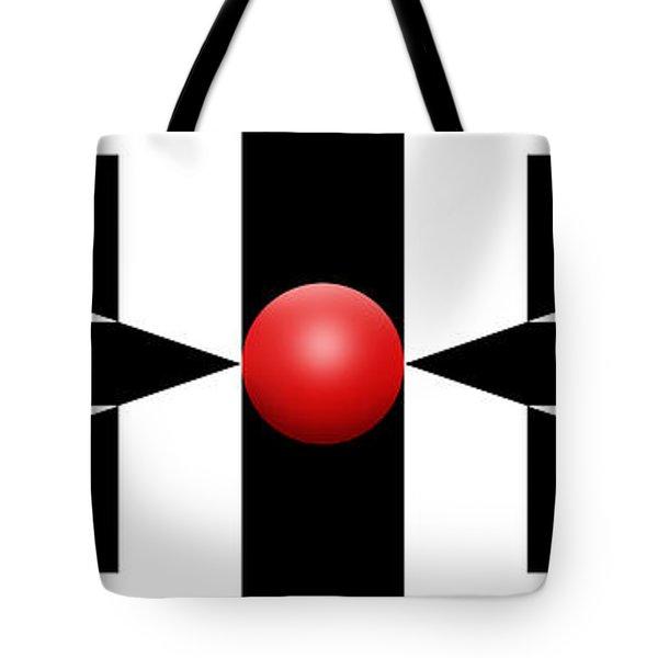 Red Ball 2a Panoramic Tote Bag