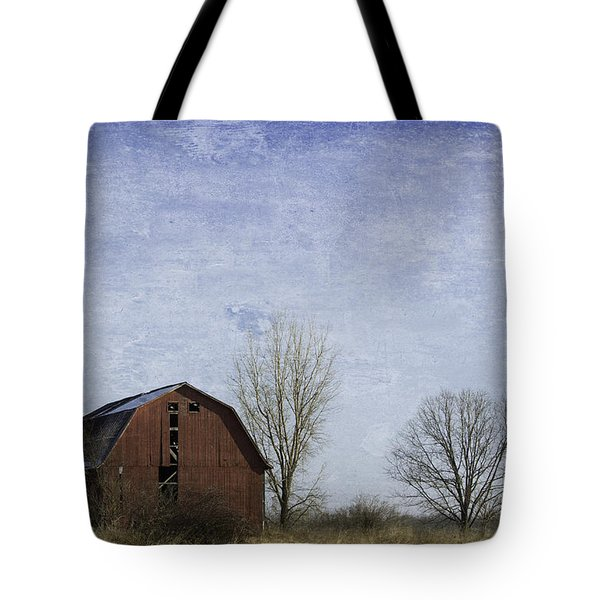 Red Barn Blue Sky Tote Bag by Kathleen Scanlan