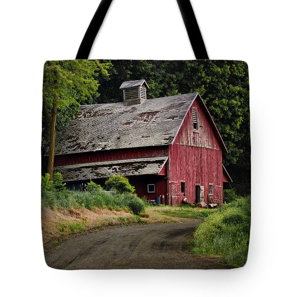 Red Barn - County Road  Tote Bag