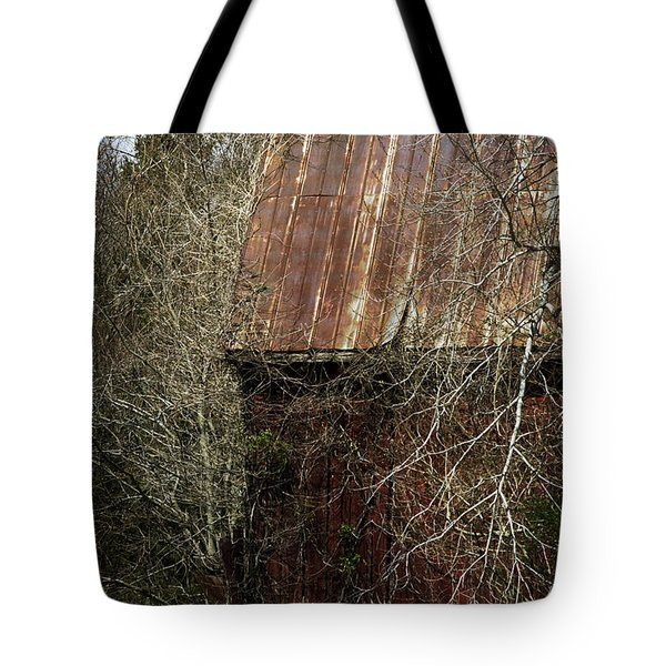 Tote Bag featuring the photograph Red Barn - Dares Beach Road by Rebecca Sherman