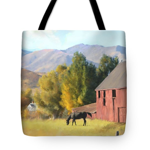 Red Barn Tote Bag by Rob Corsetti