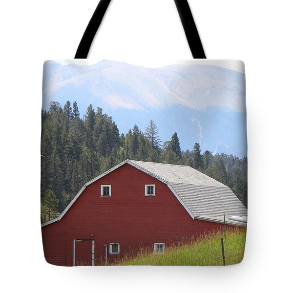 Tote Bag featuring the photograph Barn - Pikes Peak Burgess Res Divide Co by Margarethe Binkley