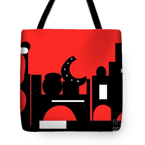 Red Bazaar Tote Bag