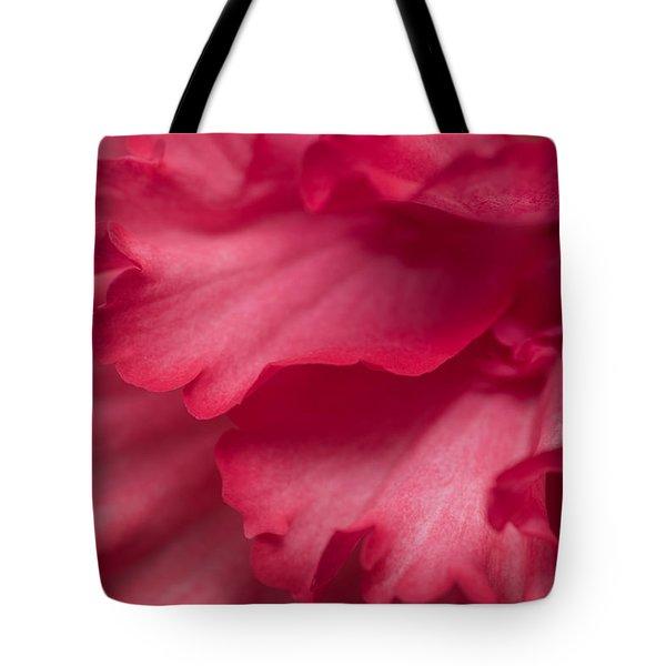 Red Begonia Petals Tote Bag by Priya Ghose
