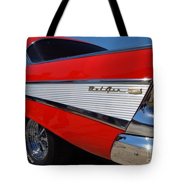 Red Belair Fins Tote Bag