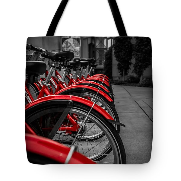 Red Bicycles Tote Bag