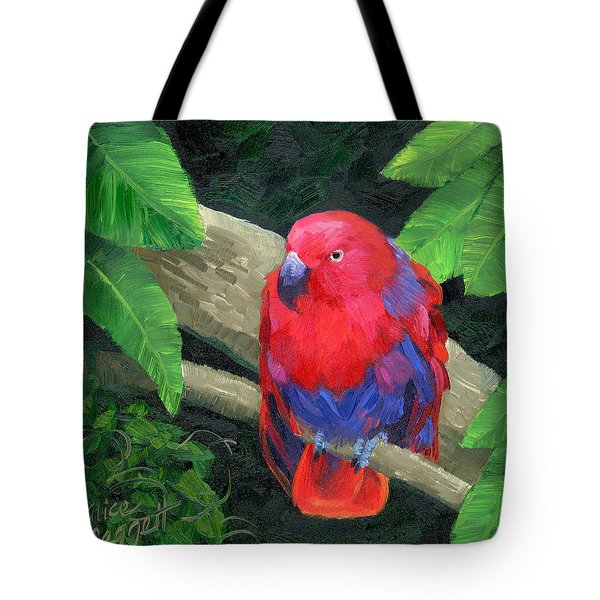 Red Bird Tote Bag by Alice Leggett