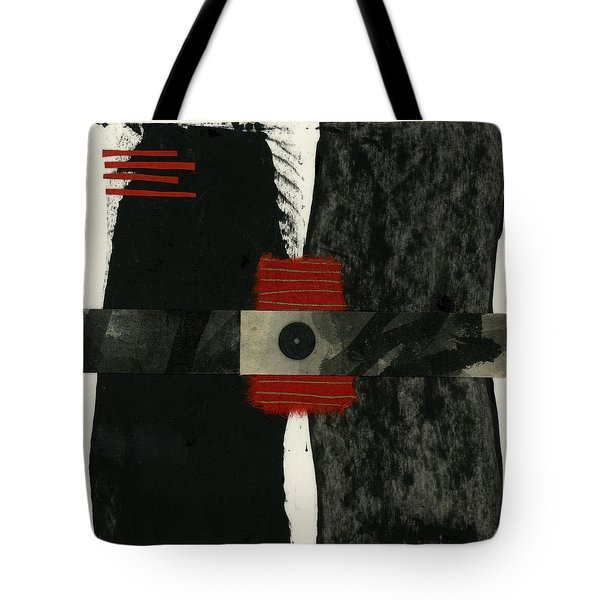 Red Black And White Collage 3 Tote Bag