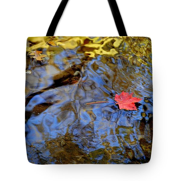 Red Blue And Gold Tote Bag by Frozen in Time Fine Art Photography