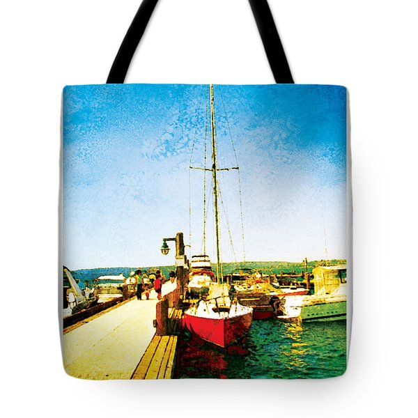 Tote Bag featuring the photograph Red Boat by Kenneth De Tore