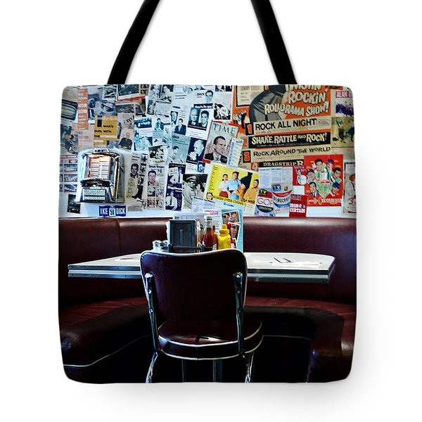 Red Booth Awaits In The Diner Tote Bag