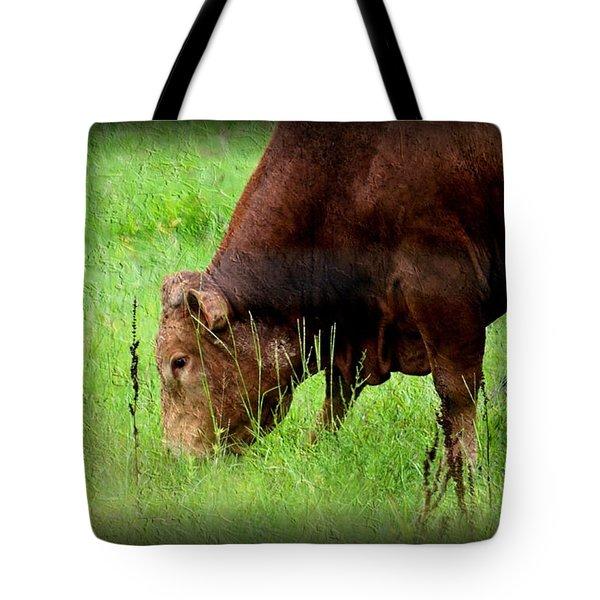 Red Brangus Bull Tote Bag
