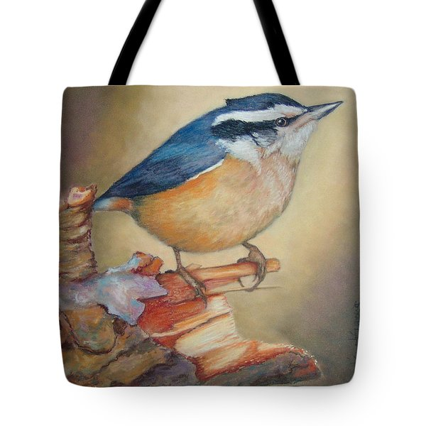 Red-breasted Nuthatch Bird Tote Bag