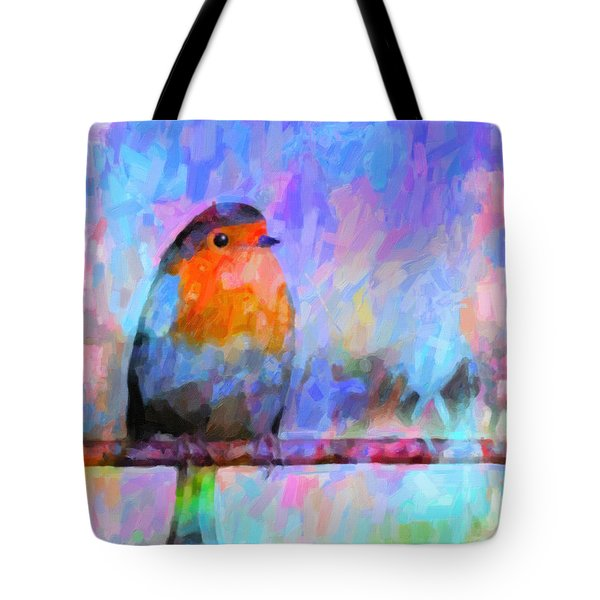 Red Breasted Robin Tote Bag by Kenny Francis
