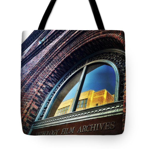 Red Brick Reflection Tote Bag by Natasha Marco