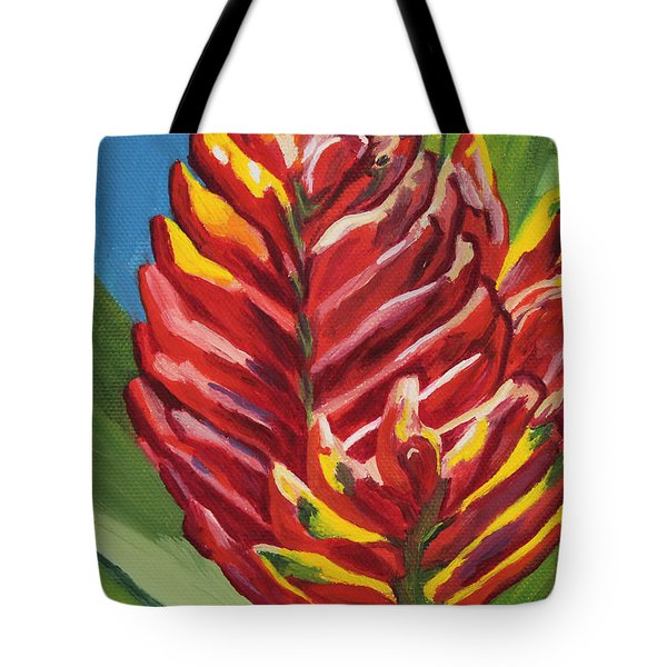 Red Bromeliad Tote Bag