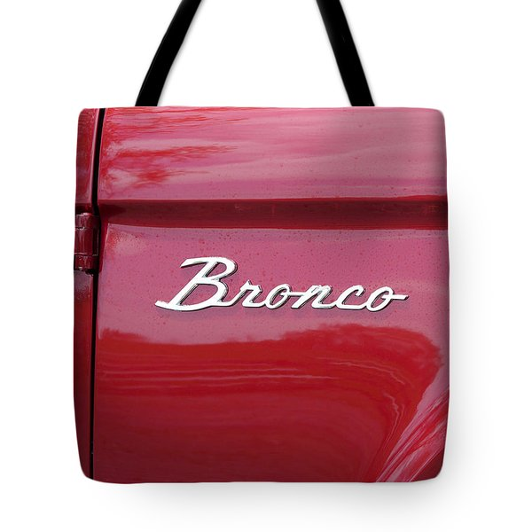 Red Bronco I Tote Bag by Richard Reeve