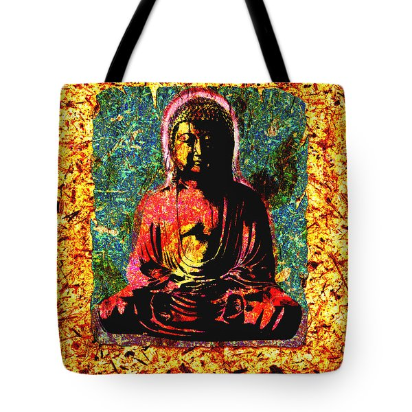 Red Buddha Tote Bag