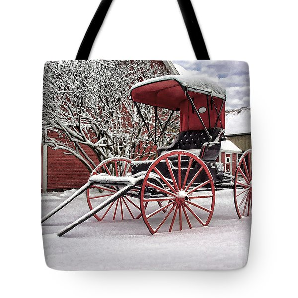 Red Buggy At Olmsted Falls - 1 Tote Bag
