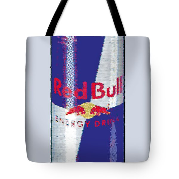 Red Bull Ode To Andy Warhol Tote Bag by Tony Rubino