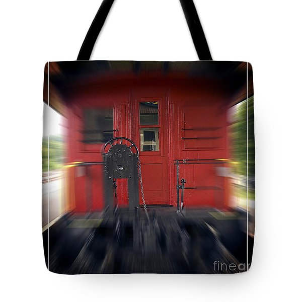 Red Caboose Tote Bag by Edward Fielding