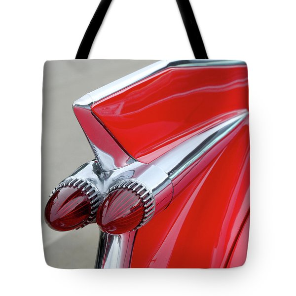 Red Caddy Tote Bag by Art Block Collections