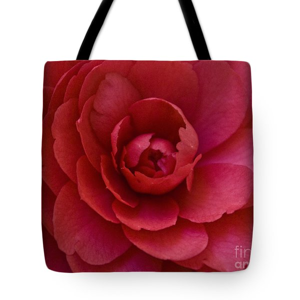 Red Camellia Tote Bag