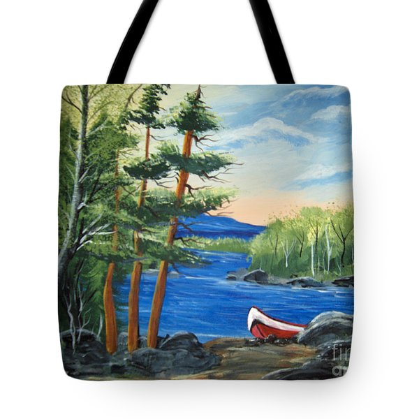 Red Canoe Tote Bag