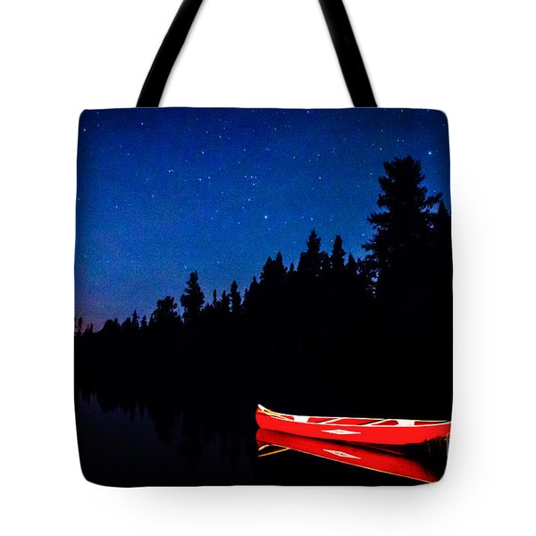 Red Canoe I Tote Bag